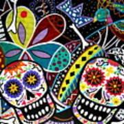 Pareja Dia De Los Muertos Poster