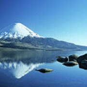 Parinacota Volcano Reflections Chile Poster