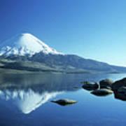 Parinacota Volcano Reflections Chile Poster