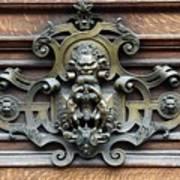 Paris - 19th Century Brass Door Knocker Poster