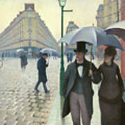 Paris A Rainy Day - Gustave Caillebotte Poster
