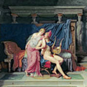 Paris And Helen Poster by Jacques Louis David