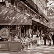 Paris Cafe 1935 Sepia Poster