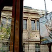 Paris Cafe Views Reflections Poster