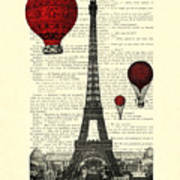 Paris, City Of Love Poster