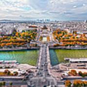 Paris City View 19 Art Poster