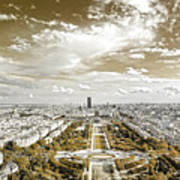 Paris City View 20 Sepia Poster