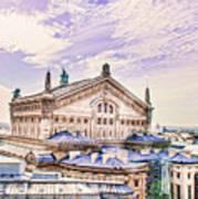 Paris City View 22 Art Poster