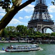 Paris Eiffel Boat Poster