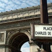 Paris France. Larc De Triomphe On Place Charles De Gaulle Poster
