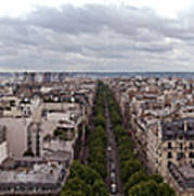 Paris From The Arch De Triumph Poster