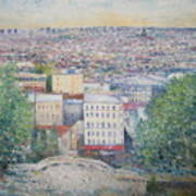 Paris From The Basilique Du Sacre Coeur Montmartre France 2003  Poster