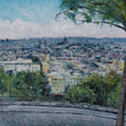 Paris From The Sacre Coeur Montmartre France 2016 Poster