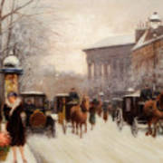 Paris In Winter Poster