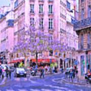 Paris Intersection Poster