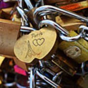 Paris Love Locks Paris France Color Poster