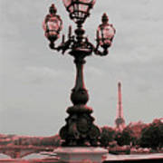 Paris Luminaires And Eiffel Tower Poster