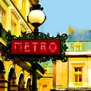 Paris Metro Stop Poster