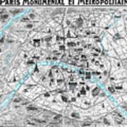 Paris Monumental Poster