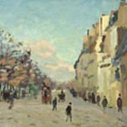 Paris Quai De Bercy Snow Effect Poster