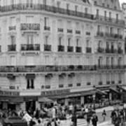 Paris Street Scene Poster
