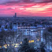 Paris Sunset Poster