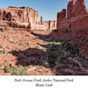 Park Avenue Trail, Arches National Park, Moab, Utah Poster