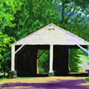 Park Covered Bridge Poster