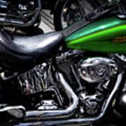 Parked Harleys Poster