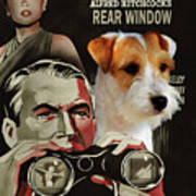 Parson Russell Terrier Art Canvas Print - Rear Window Movie Poster Poster