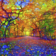 Park In Autumn Poster