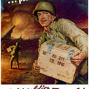 Pass The Ammunition -- Propaganda Poster Poster