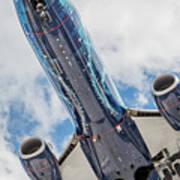 Passenger Jet Coming In For Landing 3 Poster