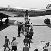 Passengers Boarding A Plane Poster