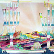 Pastel Desert Landscape Poster
