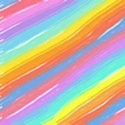 Pastel Diagonals Poster