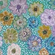Pastel Floral Garden Poster