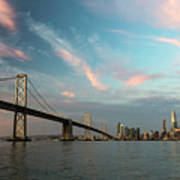 Pastel San Francisco Sunrise Poster