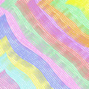 Pastel Stripes Angled Poster