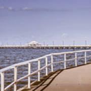 Pastel Tone Sea Pier Landscape Poster