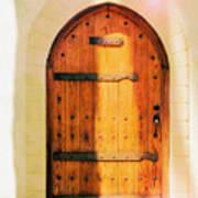 Pastel Wooden Door Poster