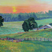 Pastoral Sunset Poster