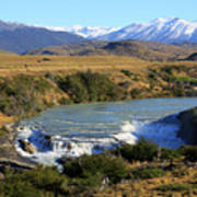 Patagonia Landscape Of Torres Del Paine National Park In Chile Poster