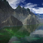 Patagonia Mountain Reflection Poster