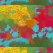 Patchwork Landscape Poster