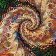 Patchwork Spiral Poster