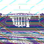 Patchwork White House Poster