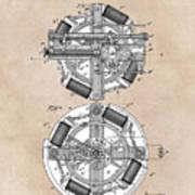 patent art Edison 1888 Phonograph Poster