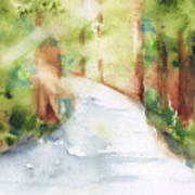 Path To Light Watercolor Poster
