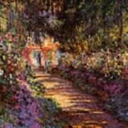 Pathway In Monet's Garden Poster
